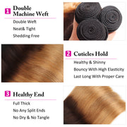 1B/4/27 Ombre Brazilian Straight Human Hair 3 Bundles 10A Unprocessed Virgin Hair Weave Bundles