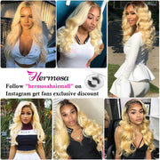 1b/613 Ombre Blonde Human Hair Weave Brazilian Body Wave 3 Bundles Unprocessed Virgin Hair Extensions