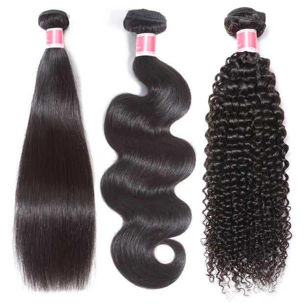 One Bundle Sale Straight/Body Wave/Curly/Deep Wave/Water Wave/Loose Wave Brazilian Hair Weave Bundles 100% Unprocessed Virgin Human Hair