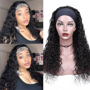 Water Wave Wigs Human Hair Headband Wigs Natural Wave Half Wigs