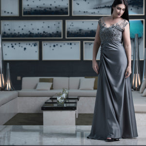 Chic Grey Dress by Meli's (Sahar Al Aufi)