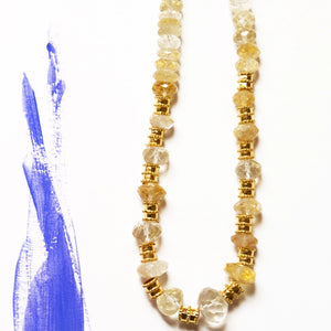 Gold plated necklace with Durr al Najaf Stones by Kidani