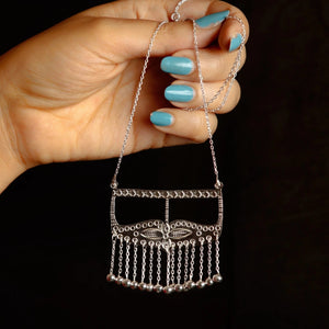 Burka-inspired silver necklace by Mazayen