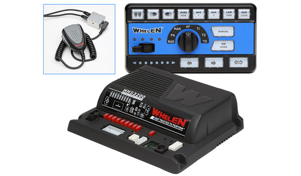 Whelen Siren Amplifier with Slide Switch and Rotary Knob Controller