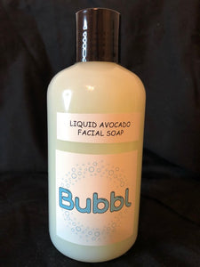 Avocado & Vanilla Liquid Facial Soap (Vegan) 8 oz