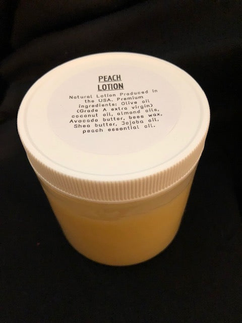 Handmade Peach Lotion 8 oz
