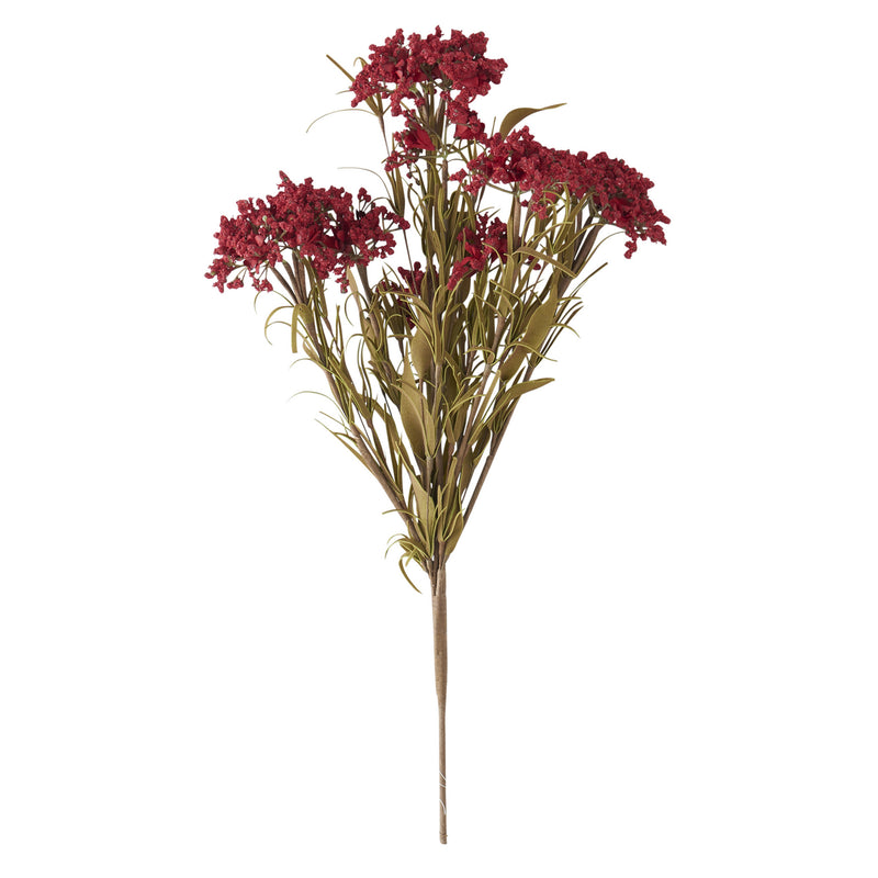 Burgundy Flocked Queen Annes Lace Spray