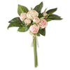 Pink Real Touch Cabbage Rose Bouquet