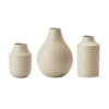 Ivory Matte Small Metal Vase Set