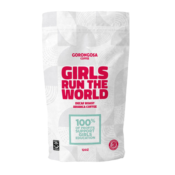 Girls Run The World Decaf Coffee Bag