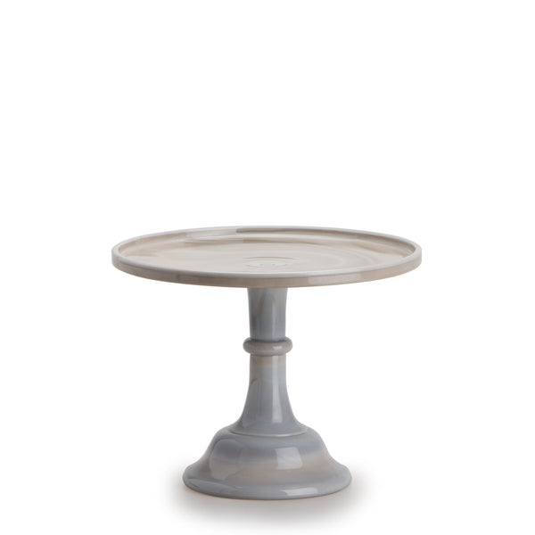 Large Glass Marble Cake Stand