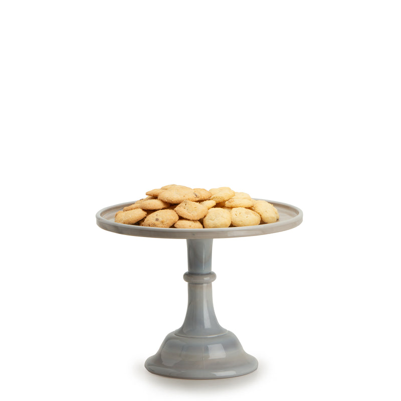 Medium Glass Marble Cake Stand