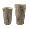 Cement Tall Round Pot Set