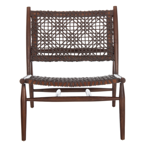 Brown Bandelier Accent Chair