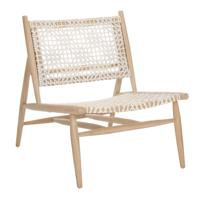 Light Natural & White Bandelier Accent Chair