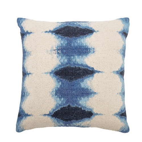 Blue Tie-Dyed Pillow