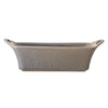 Long Grey Matte Stoneware Baker