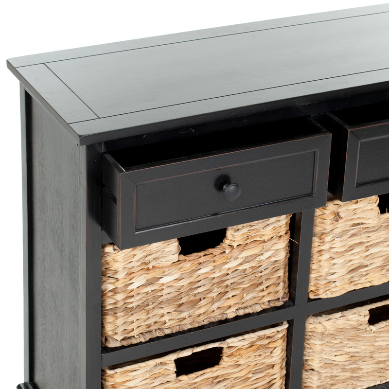 Distressed Black Herman Storage Unit