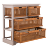 Quartz Grey Jackson Storage Unit with Cane Drawers