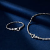 Adrienne Rope Bracelet with Diamonds