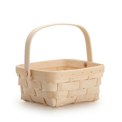 White Short Handled Signature Basket