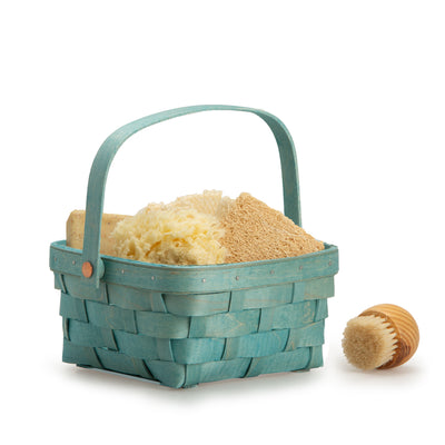 Teal Short Handled Signature Basket
