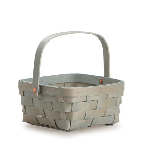 Light Blue Short Handled Signature Basket