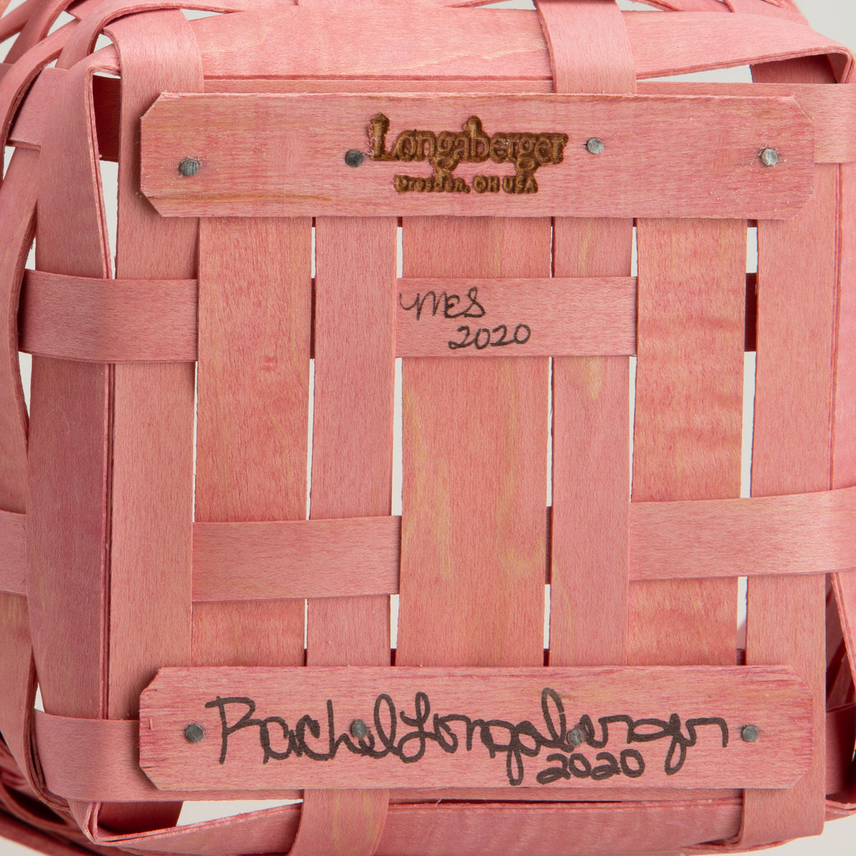 Pink Handled Signature Basket