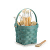 Teal Handled Signature Basket