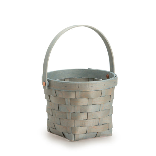 Light Blue Handled Signature Basket