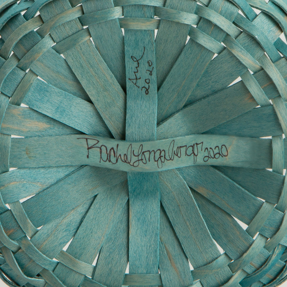 Teal Round Signature Basket