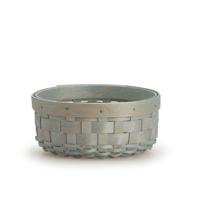 Light Blue Round Signature Basket