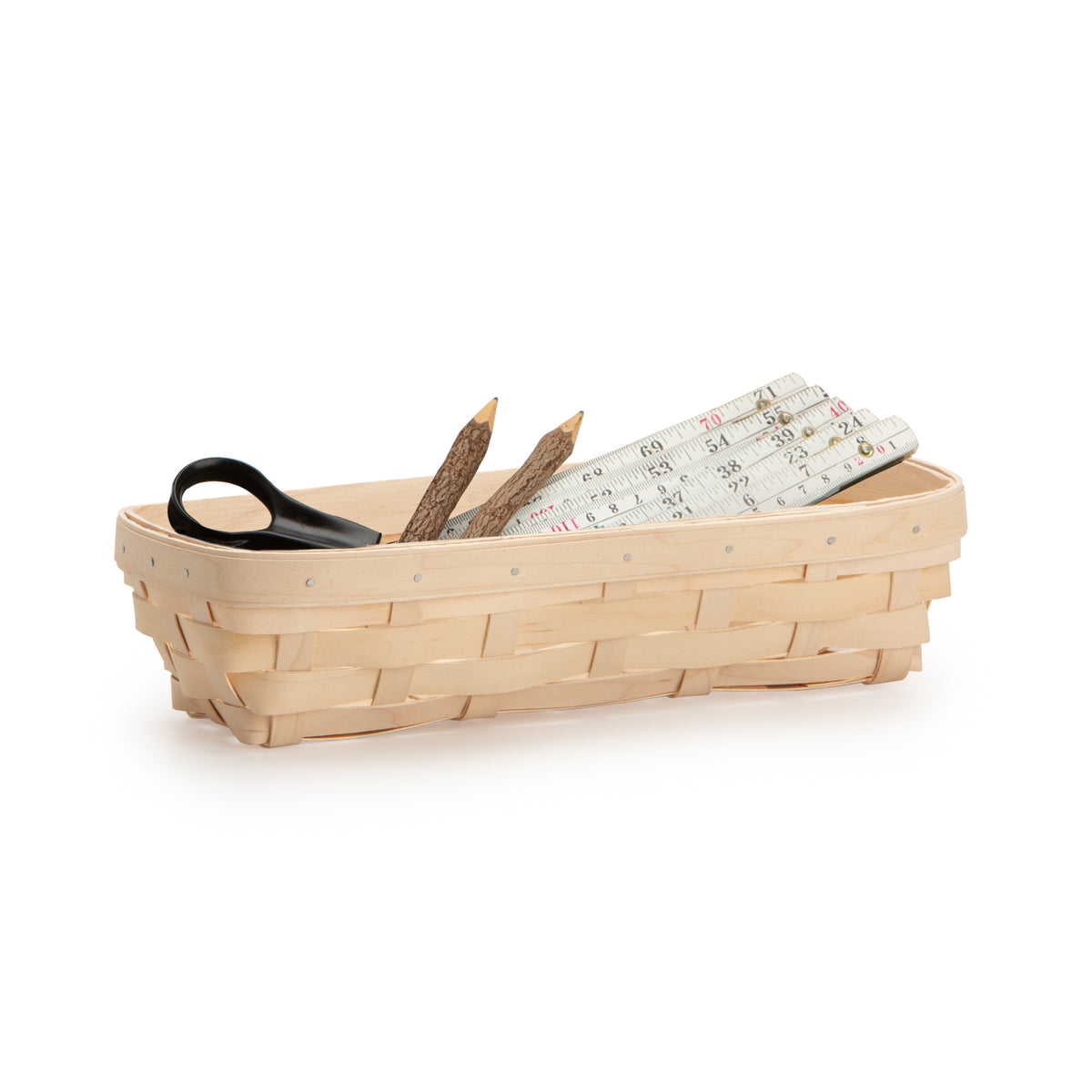White Rectangle Signature Basket