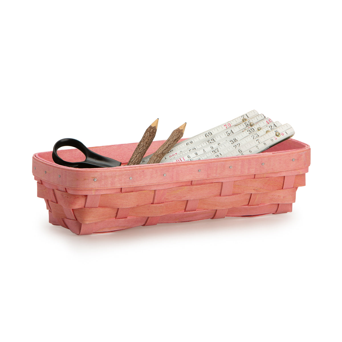 Pink Rectangle Signature Basket