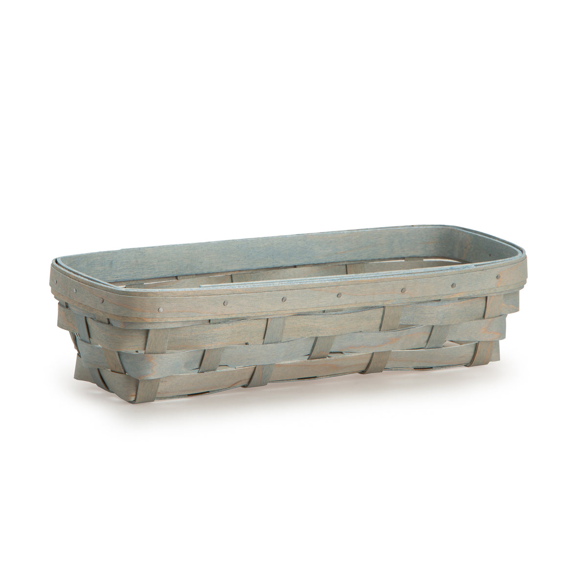 Light Blue Rectangle Signature Basket