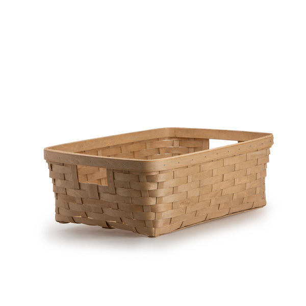 Light Brown Large Rectangle Organizing Basket