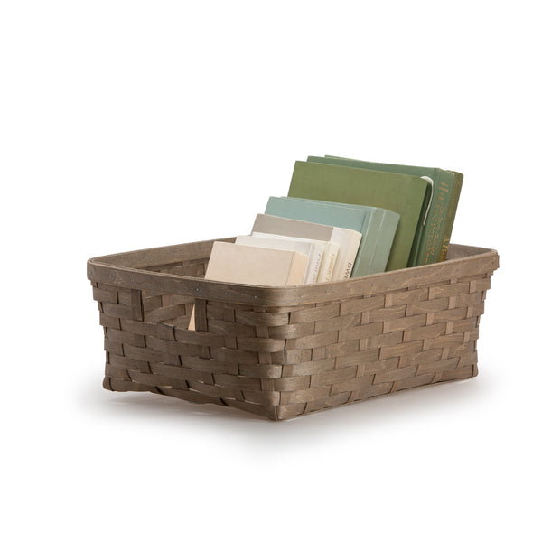Light Grey Large Rectangle Organizing Basket