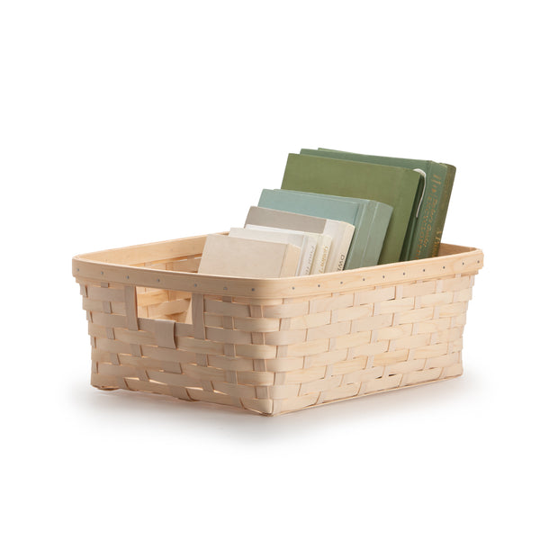 White Large Rectangle Organizing Basket