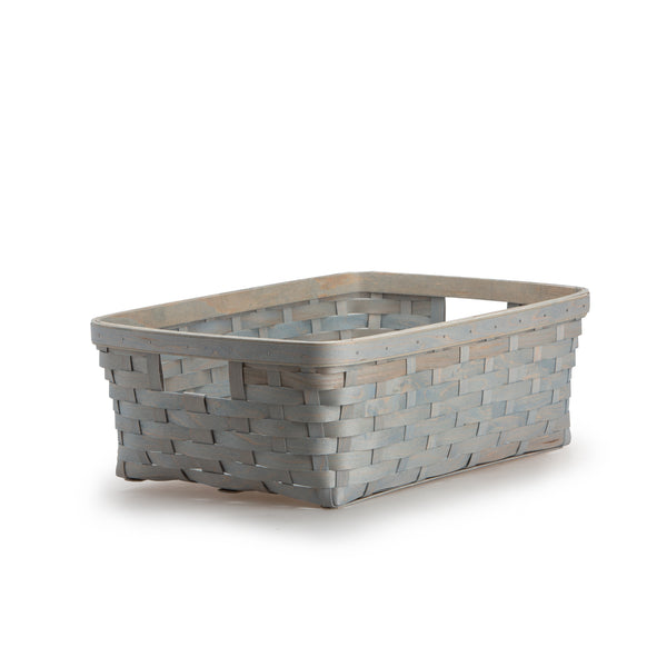 Light Blue Large Rectangle Organizing Basket