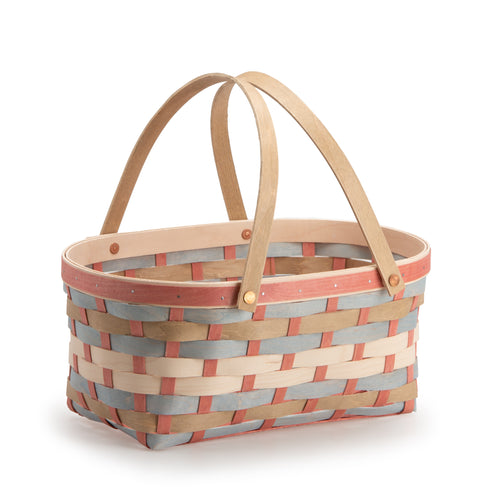 Sun-Kissed Oval Market Basket