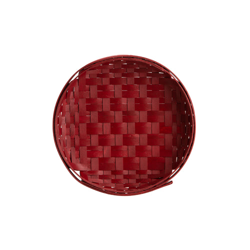Bold Red Round Tray Basket