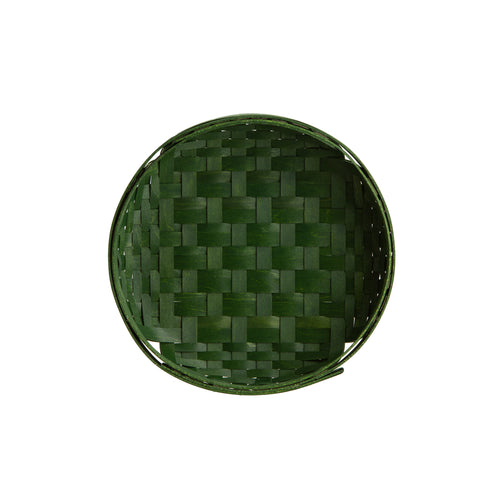 Bold Green Round Tray Basket