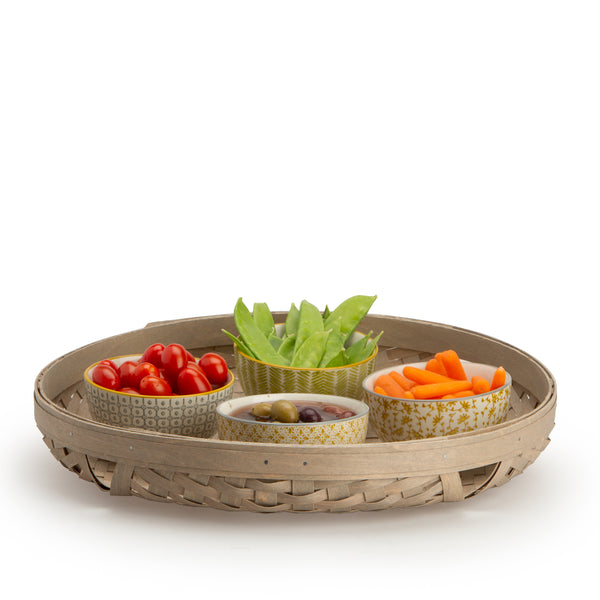 Large Round Tray Basket