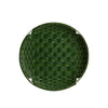 Bold Green Large Round Tray Basket