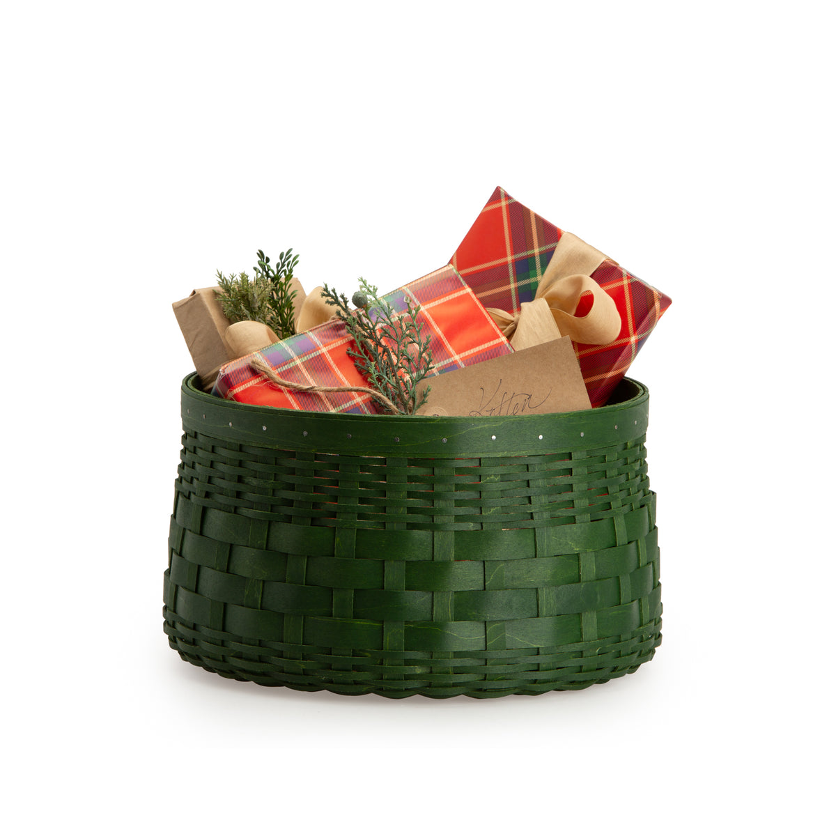Bold Green Catch All Basket