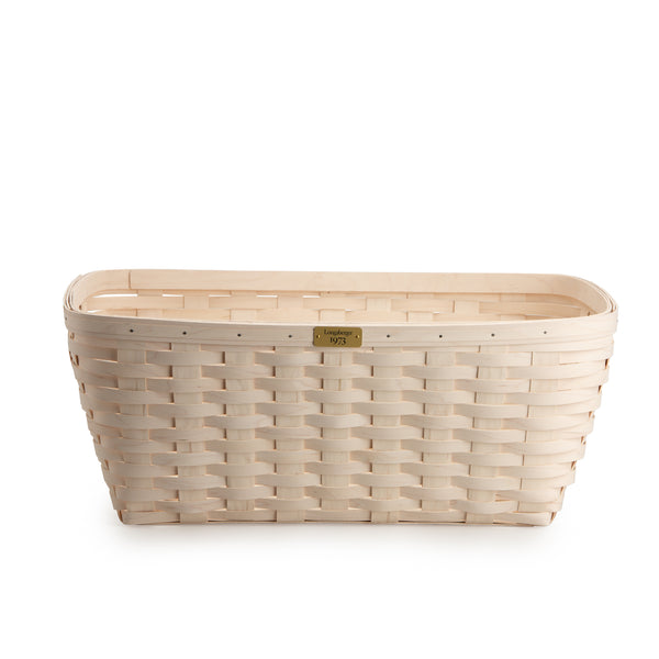 White 1973 Small Laundry Basket Set with Free Protector