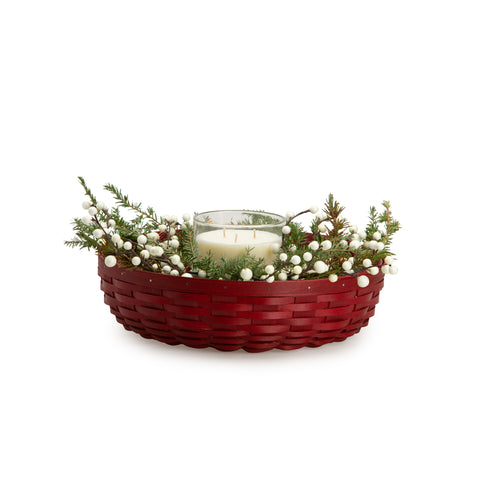 Bold Red Wreath Basket Set