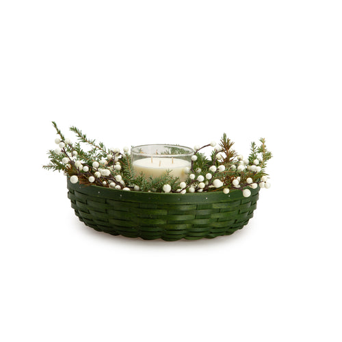 Bold Green Wreath Basket Set