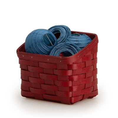 Bold Red TV Time Basket