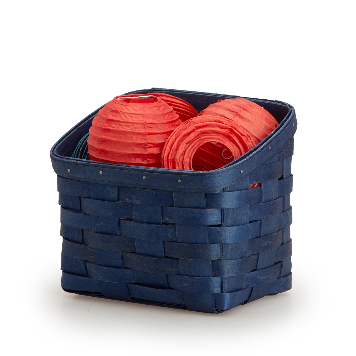 Bold Blue TV Time Basket